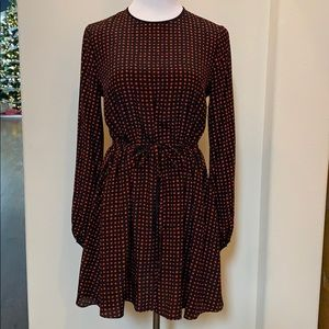 DVF red Polkadot dress. Excellent condition!